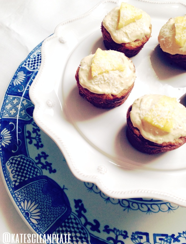 Grain free coconut pineapplecupcakes