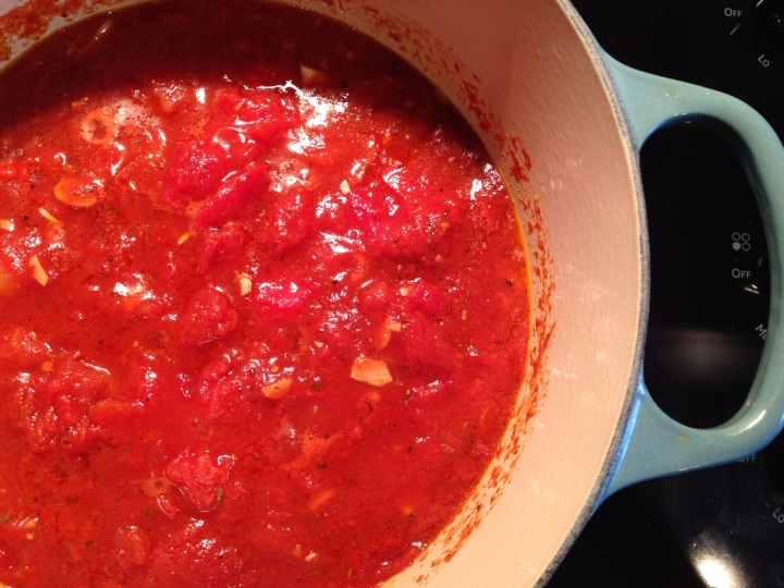 My homemade tomato sauce