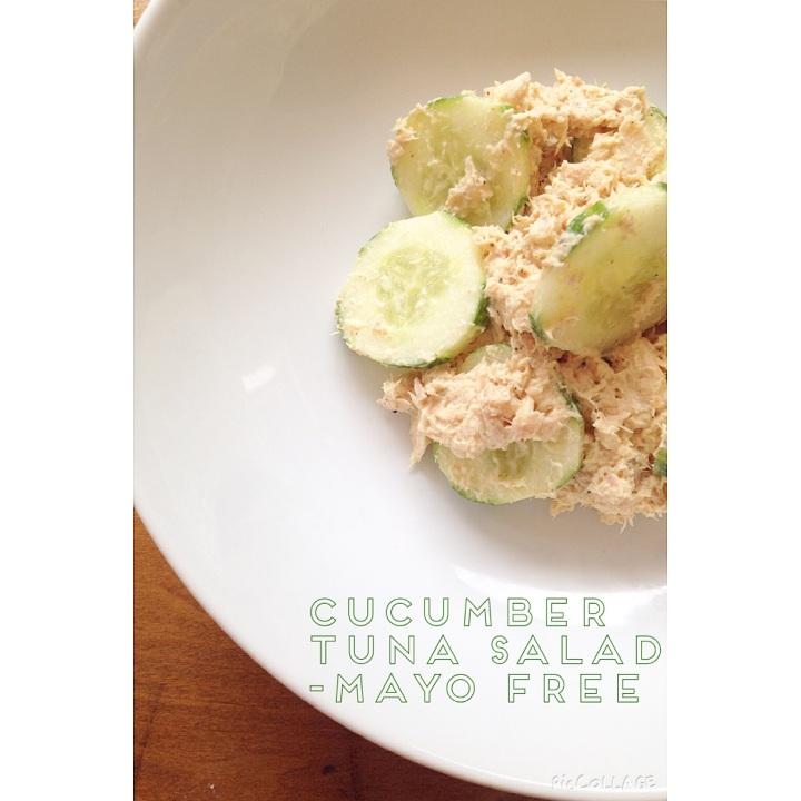 Cucumber tuna salad – mayofree